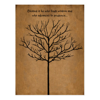Blessed is He who seeks Wisdom a Tree of Life Postcard