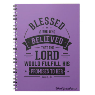 Blessed is she note book