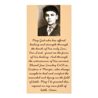 Blessed Jose Sanchez Canonization Prayer Cards Photo Greeting Card