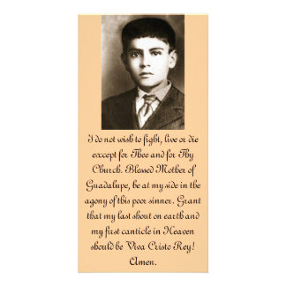 Blessed Jose Sanchez Prayer Cards Photo Card