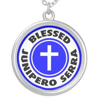 Blessed Junipero Serra Silver Plated Necklace
