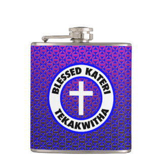 Blessed Kateri Tekakwitha Hip Flask