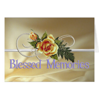 Blessed Memories Mother Sympathy Greeting Card