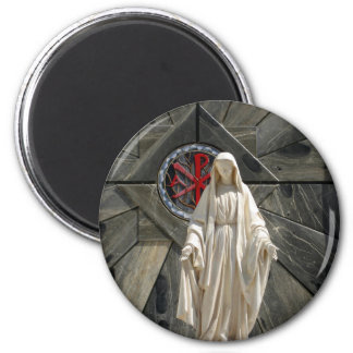 Blessed Mother 2 Inch Round Magnet
