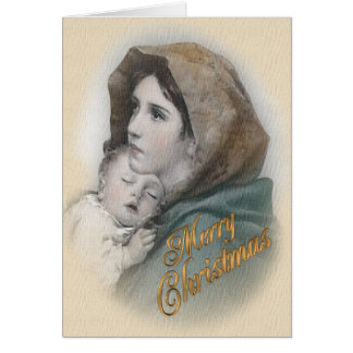 Blessed Mother and Baby Jesus Christmas card