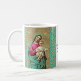 Blessed Mother holding the Child Jesus Prayer Coffee Mug