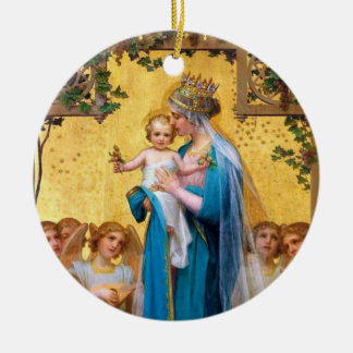 Blessed Mother/St. Therese Double Sided Ornament