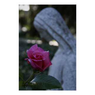 Blessed Mother & the Rose Poster