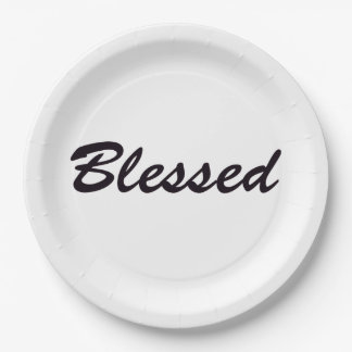 Blessed Paper Plate