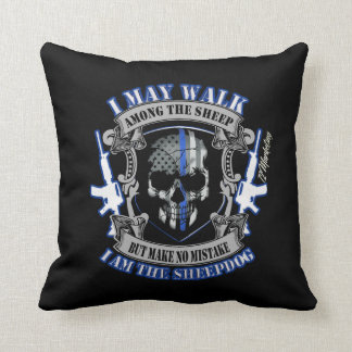 Blessed peacemakers Thin Blue Line Police Pillow