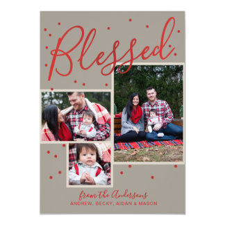 Blessed Personalized Christmas Photo Card