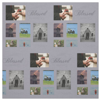 Blessed Photos Collage Fabric