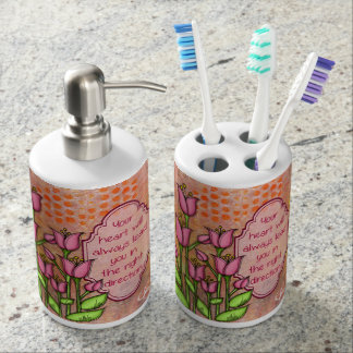 Blessed Positive Thought Doodle Flower Bath Set