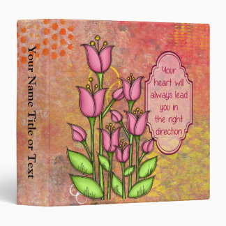 Blessed Positive Thought Doodle Flower Binder