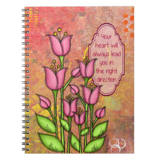 Blessed Positive Thought Doodle Flower Notebook