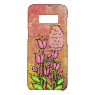 Blessed Positive Thought Doodle Flower Samsung Case-Mate Samsung Galaxy S8 Case