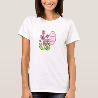 Blessed Positive Thought Doodle Flower T-Shirt