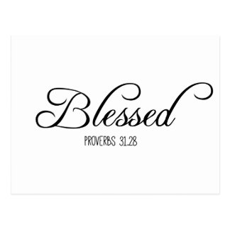 Blessed Proverbs 31 Bible Verse Postcard