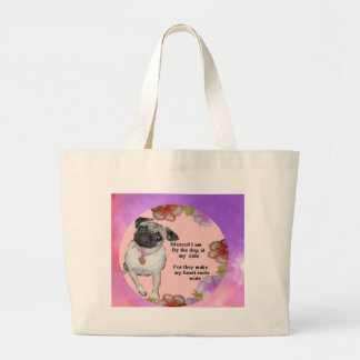Blessed pup 2 large tote bag