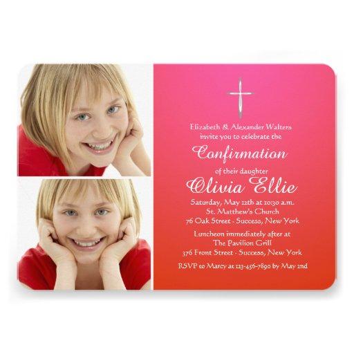 Blessed Sacrament Religious Photo Invitation