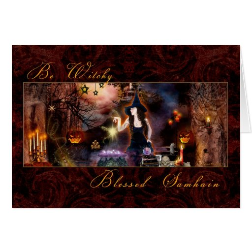 Blessed Samhain - Be Witchy Card