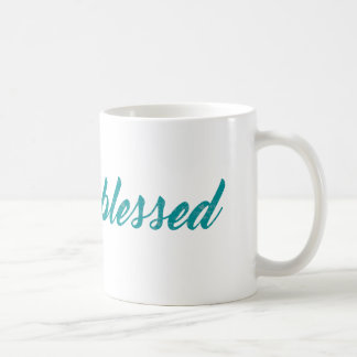 Blessed Script Teal Arrow Pattern Coffee Mug
