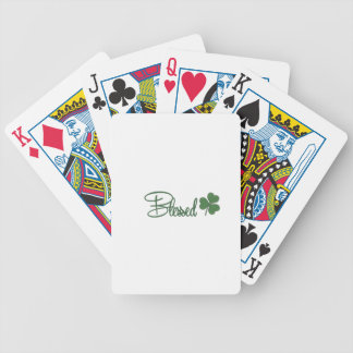 Blessed St. Patrick's Day Design ☘ Bicycle Playing Cards
