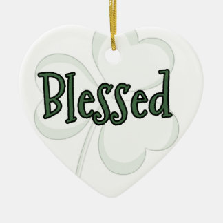 Blessed St. Patrick's Day Design Ceramic Ornament