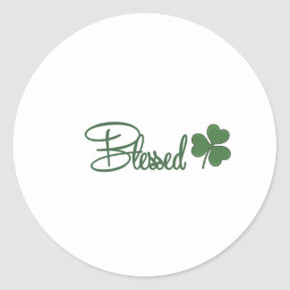 Blessed St. Patrick's Day Design ☘ Classic Round Sticker