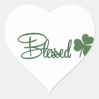 Blessed St. Patrick's Day Design ☘ Heart Sticker