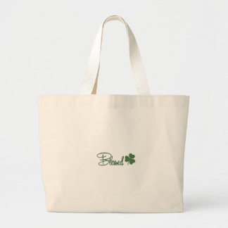 Blessed St. Patrick's Day Design ☘ Large Tote Bag