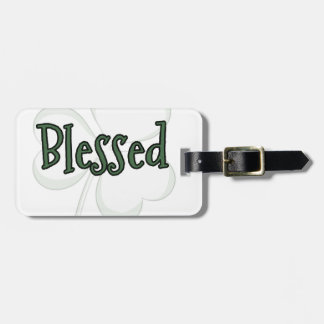Blessed St. Patrick's Day Design Luggage Tag