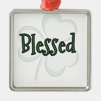 Blessed St. Patrick's Day Design Metal Ornament