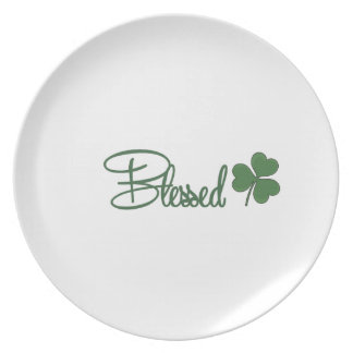 Blessed St. Patrick's Day Design ☘ Plate