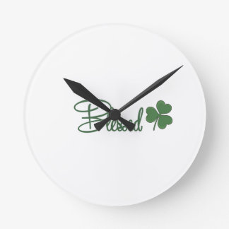 Blessed St. Patrick's Day Design ☘ Round Clock