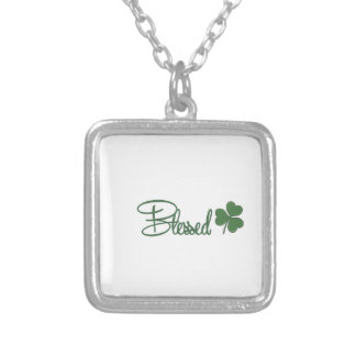 Blessed St. Patrick's Day Design ☘ Silver Plated Necklace