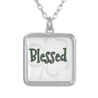 Blessed St. Patrick's Day Design Silver Plated Necklace