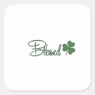 Blessed St. Patrick's Day Design ☘ Square Sticker