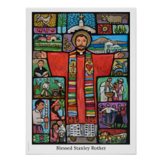Blessed Stanley Rother poste, first US-born martyr Poster