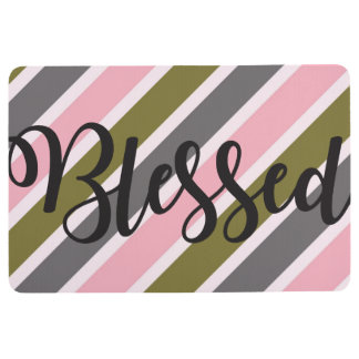 Blessed Striped Floor Mat