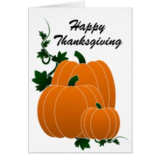 Blessed Thanksgiving Card - Psalm 100:4 - Pumpkins
