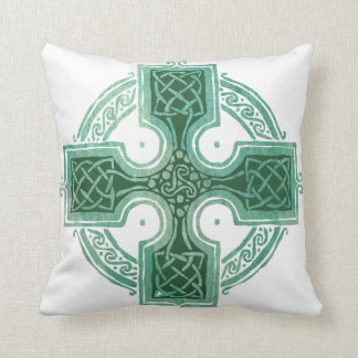 Blessed to be Irish Celtic Cross Throw Pillow