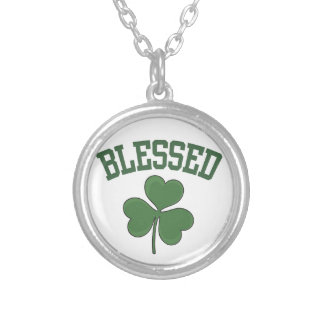 BLESSED Varcity Design Silver Plated Necklace