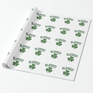 BLESSED Varcity Design Wrapping Paper