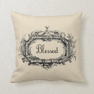 Blessed Vintage Style Farmhouse Throw Pillow