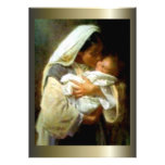 Blessed Virgin Mary and Infant Child Jesus Custom Announcement