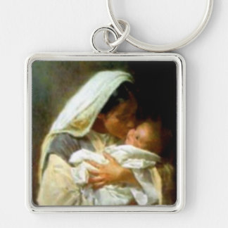 Blessed Virgin Mary and Infant Child Jesus Keychain