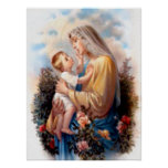 Blessed Virgin Mary and Infant Child Jesus Print