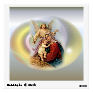 Blessed Virgin Mary, Jesus and Guardian Angel Wall Decal