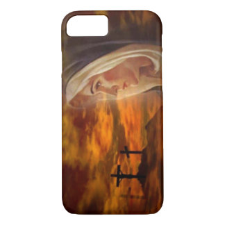 Blessed Virgin Mary Old Rugged Cross at Calvary iPhone 7 Case